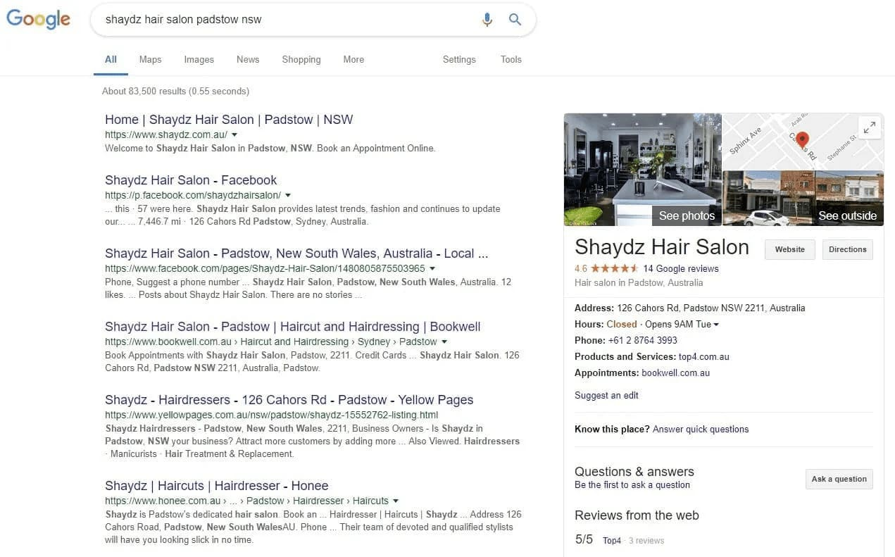 Top4 Shaydz Hair Salon